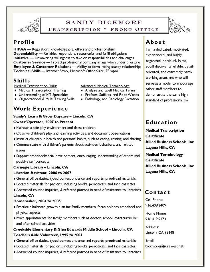115 best {Resume} | Examples! images on Pinterest | Resume ideas ...