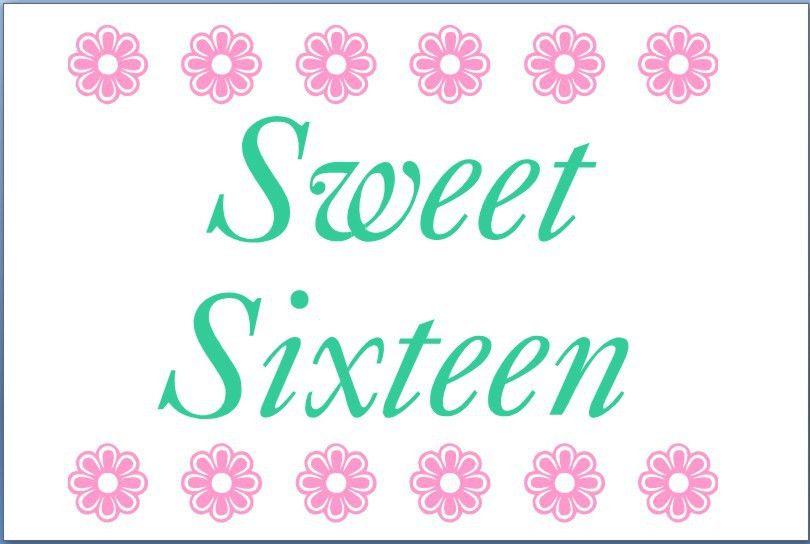 Free Printable Sweet 16 Invitation Templates