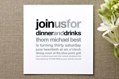 Birthday Dinner Invitation | orionjurinform.com