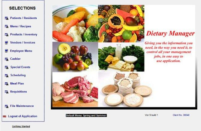 Dietary Management Software - Allows food service managers and ...