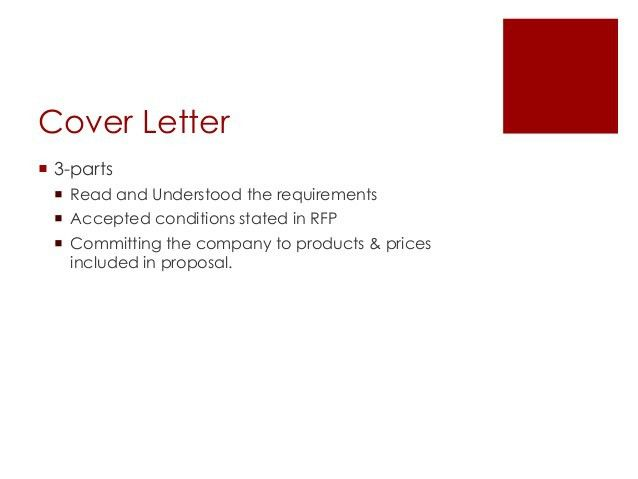 rfp acceptance letters