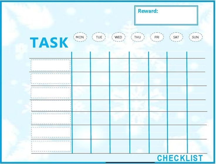 Kids Weekly To Do List Template | to do list template