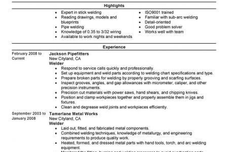 Mig Welding Resumes Example - Reentrycorps