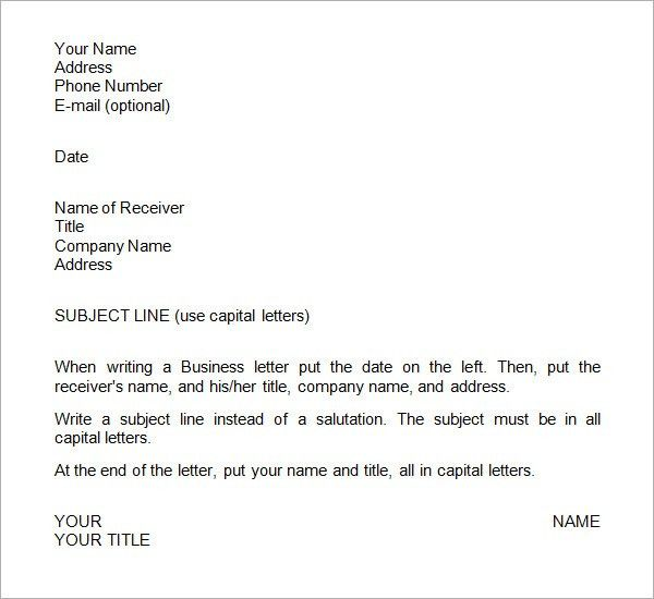 Business Letter Format Template Sample - Social Funda
