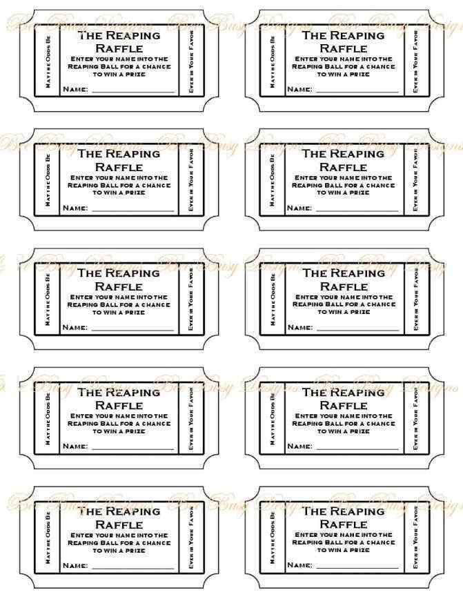 Free Printable Raffle Ticket Template printable numbered raffle ...