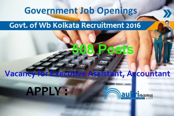 508 Executive Assistant and Accountant Jobs 2016 in Government of ...