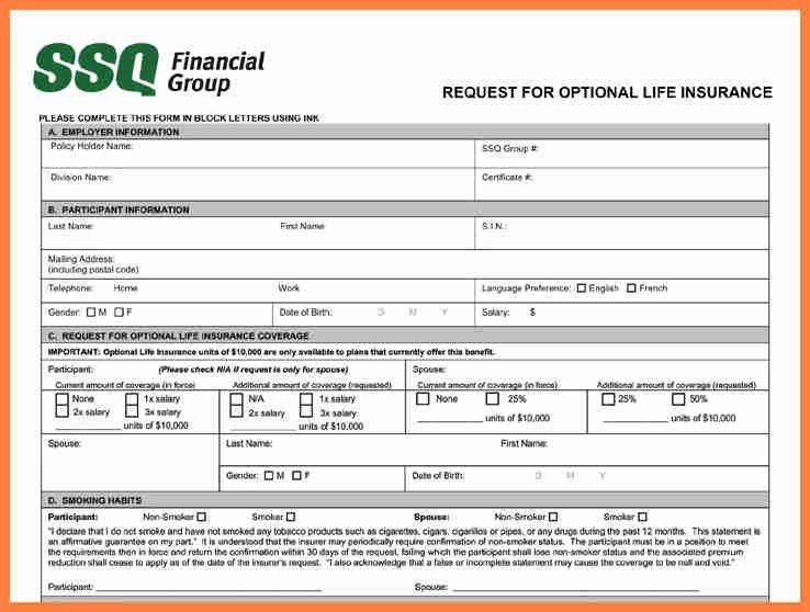 9+ insurance application form | Life Insurance Letter