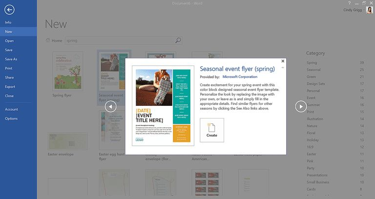Find Free, Spring-themed Templates for Microsoft Office