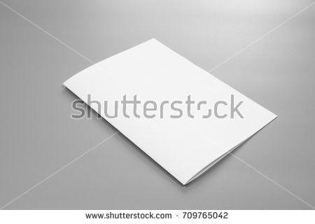Blank Trifold Brochure Zigzag Folded Flyer Stock Illustration ...