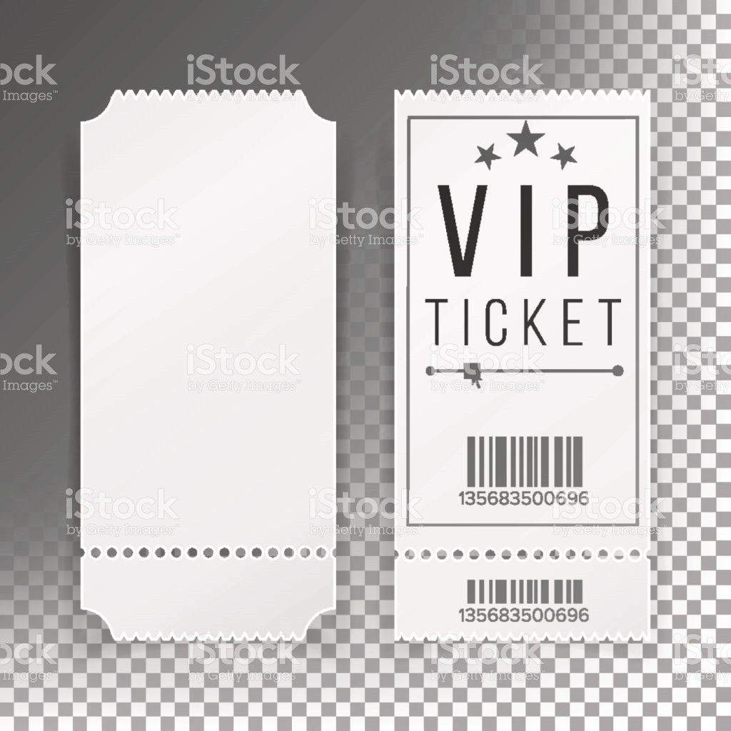 Ticket Template Set Vector Blank Theater Cinema Train Football ...