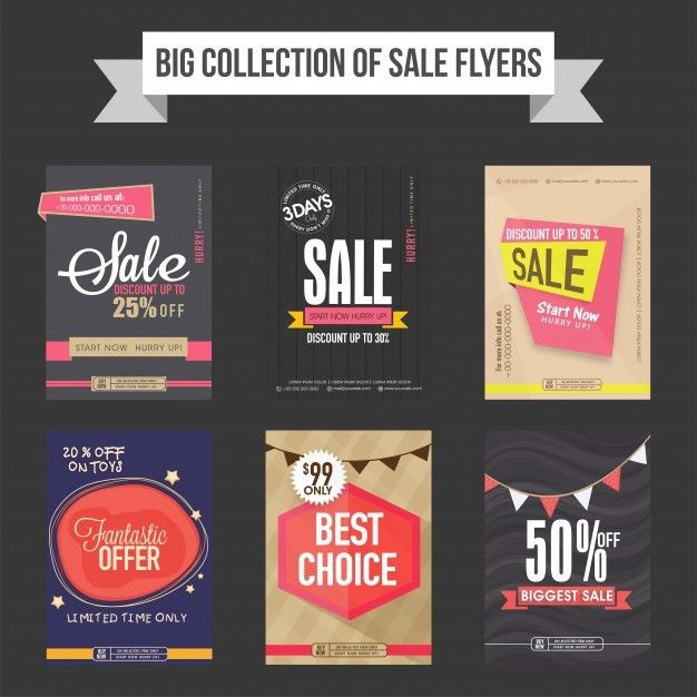 Sale flyers, templates and banners collection Vector | Free Download