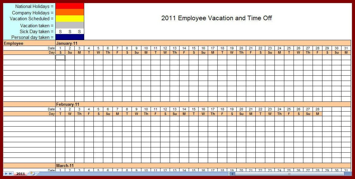 13 Free Employee Monthly Schedule Template | sendletters.info