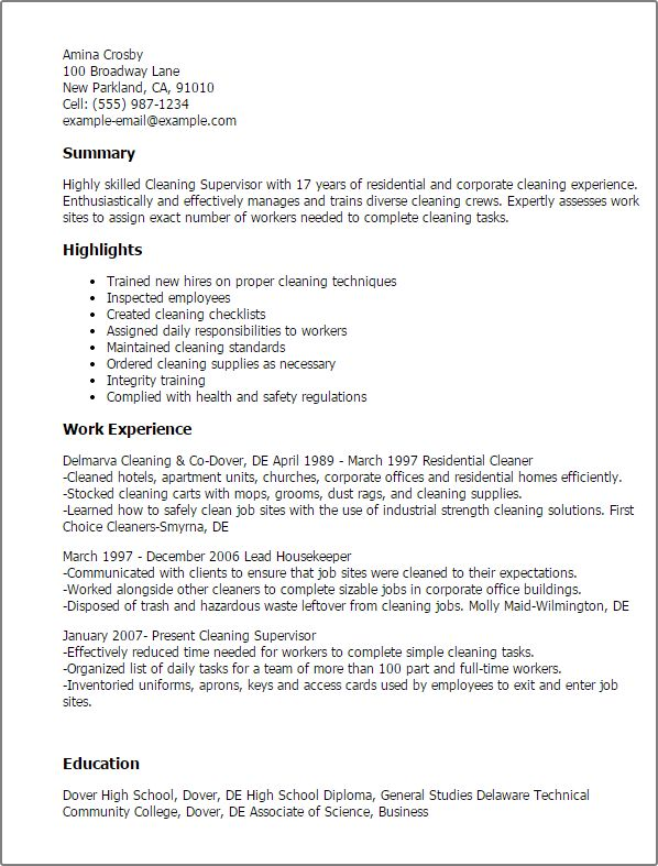 cleaning resume examples house cleaning house cleaning resume