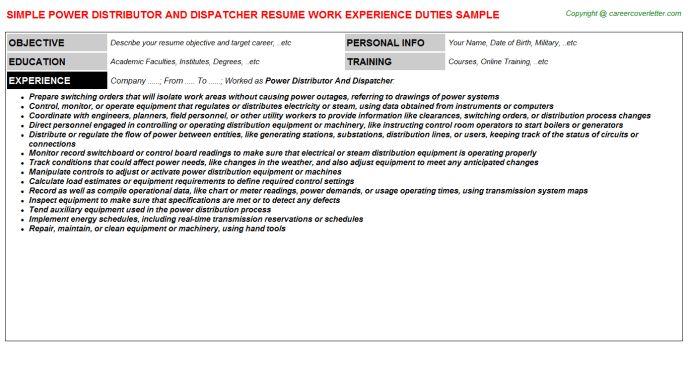 aircraft dispatcher resume