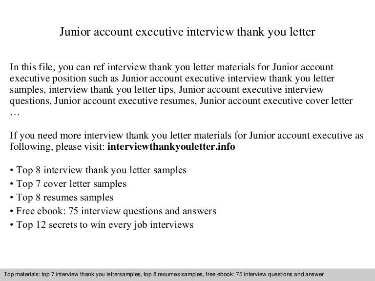Junior account executive