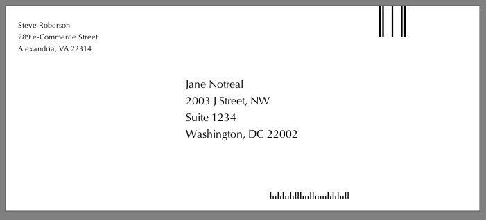 Getting Envelopes and Labels Imprinted