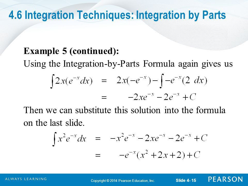 Integration Techniques: Integration by Parts - ppt download