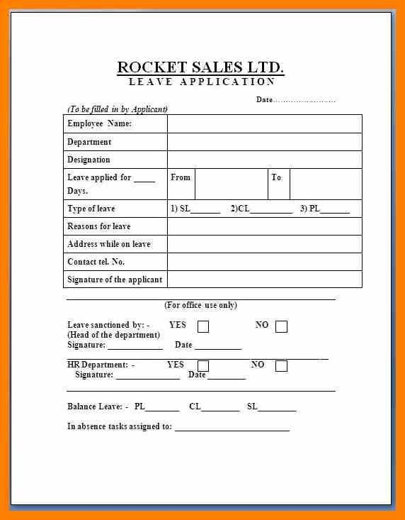 8+ format for leave application | nurse homed