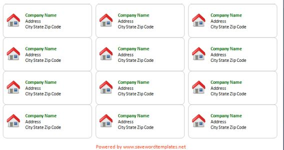 Address Label Template - Save Word Templates