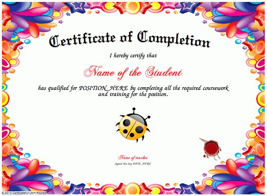 Certificate of achievement for kids best 20 certificate of certificate creator certificate maker certificate templates yadclub Gallery