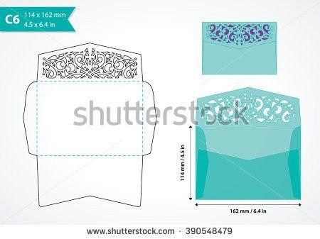 Die Cut Vector Envelope Template Standard Stock Vector 352929800 ...