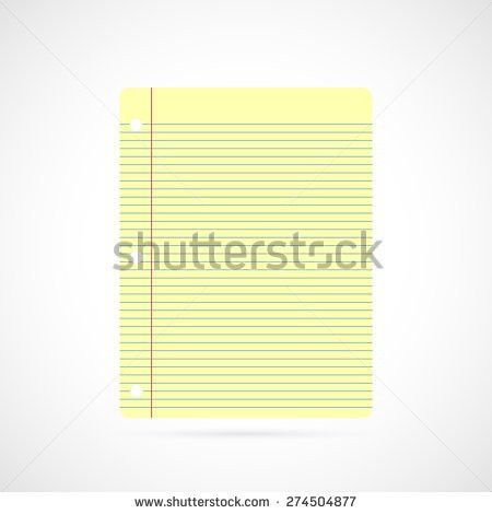 Yellow Lined Paper Stock Vector 336761837 - Shutterstock