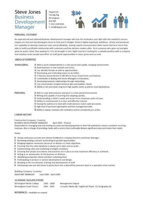Sample marketing project manager resume