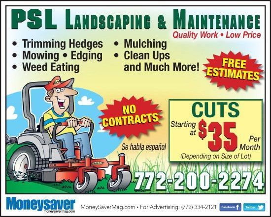 Coupons for PSL Landscaping & Maintenance | My Living Magazines