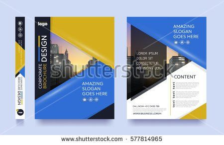 Poster Flyer Pamphlet Brochure Cover Design Stock Vector 577814956 ...