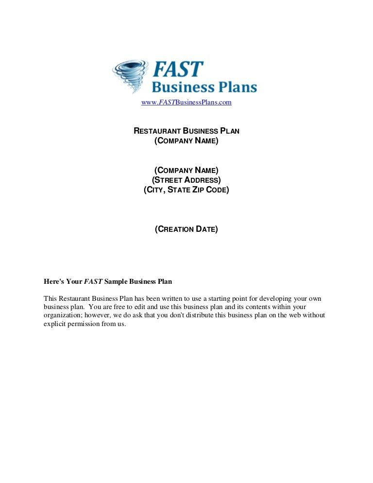 Restaurant business-plan-template