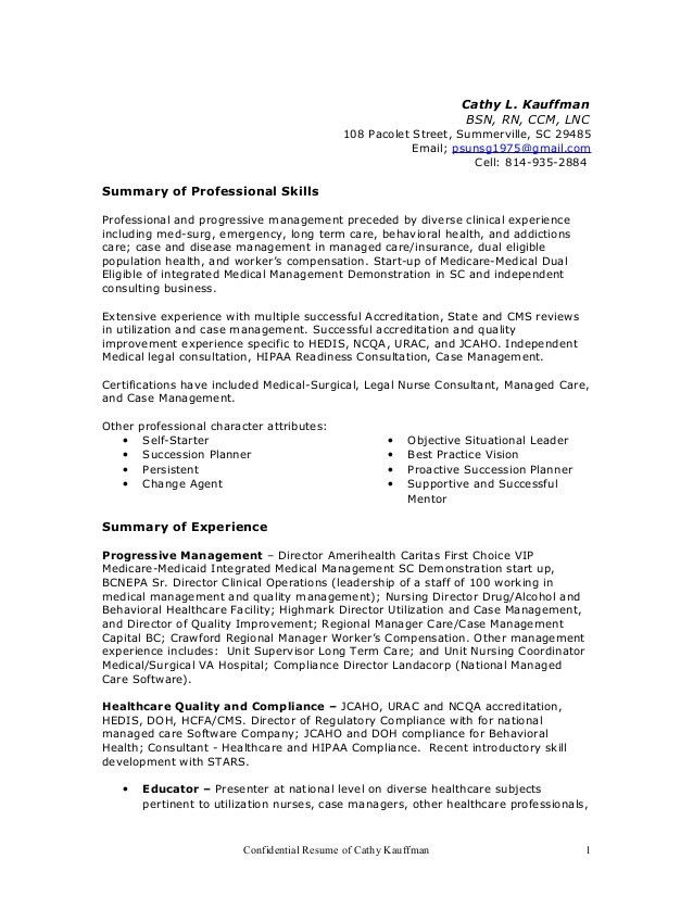 Hedis Nurse Medical Staffing Network Care Management Hedis - Legal nurse consultant cover letter