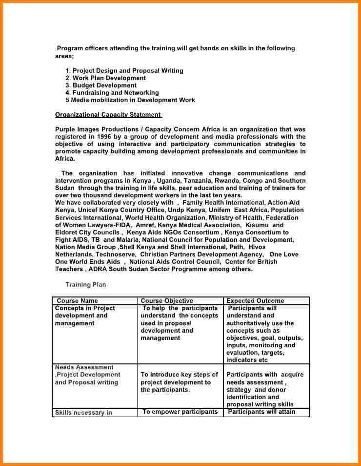 Training Proposal Letter. Sample Proposal Letter Sample Letters ...
