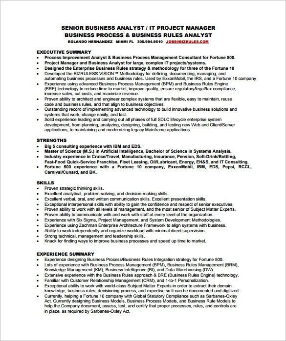entry level business analyst resume sample example 4. business ...