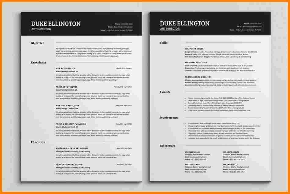 two page resume sample jennywasherecom - Examples Of 2 Page Resumes