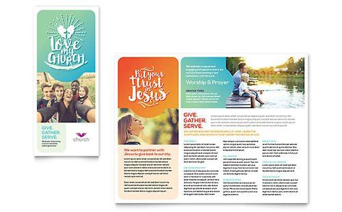 Religious & Organizations - Tri Fold Brochure Templates - Word ...