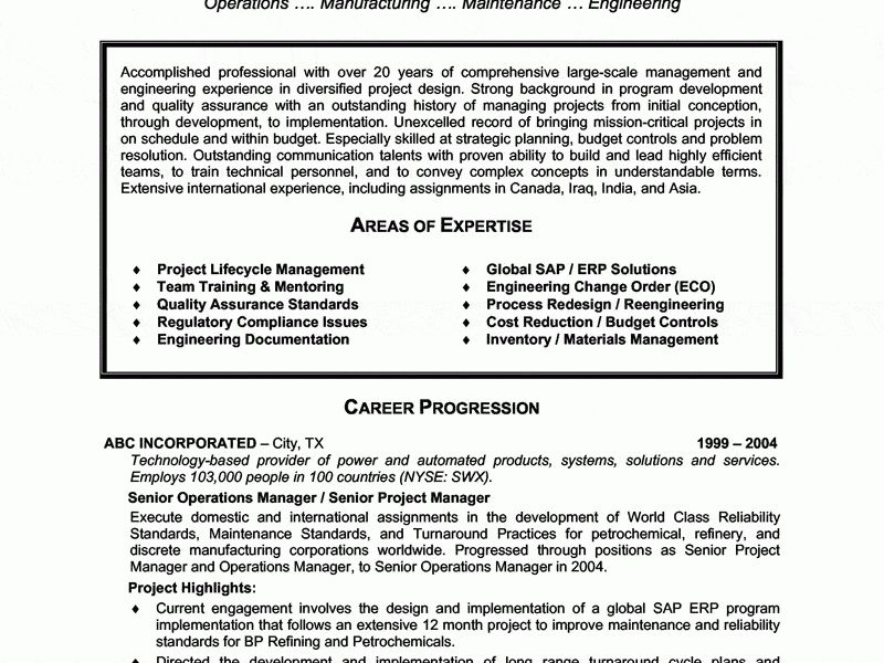 Mechanical Maintenance Engineer Sample Resume ...