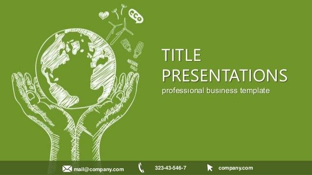 Eco Information Free Keynote templates