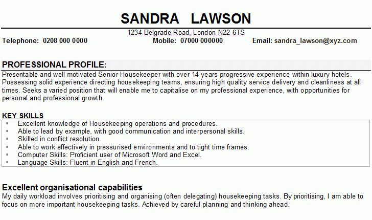 bold design housekeeping supervisor resume 2 resume sample ...
