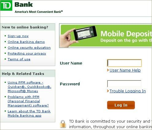 Log In to Your TD Bank Account | TD Bank