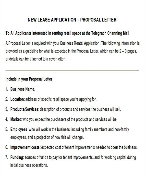 Proposal Template » Commercial Lease Proposal Template - Cover ...