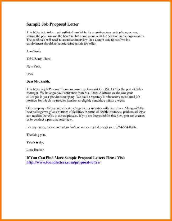 6 sample proposal letter | Receipt Templates