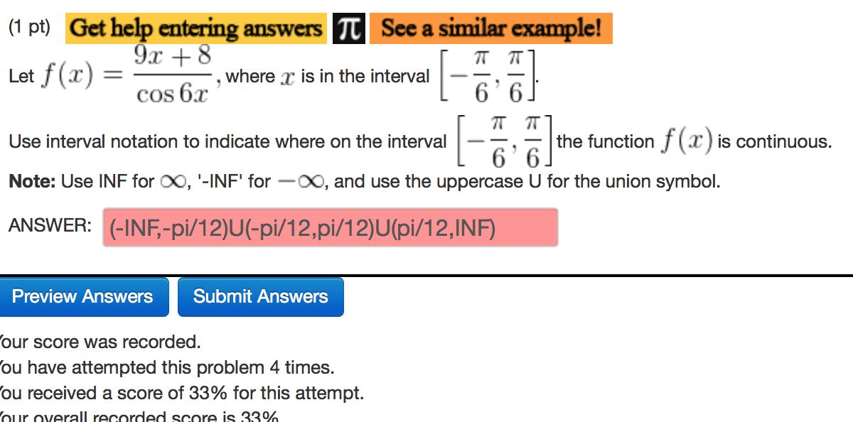 Use The Interval Notation To Indicate Where On The... | Chegg.com