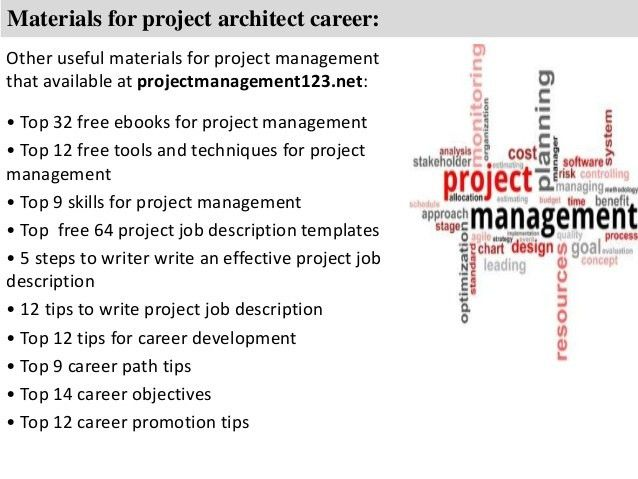 Project architect job description