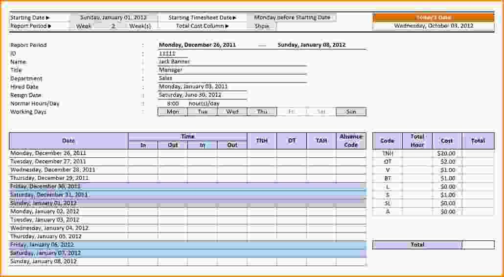 9+ employee timesheet template | Loan Application Form
