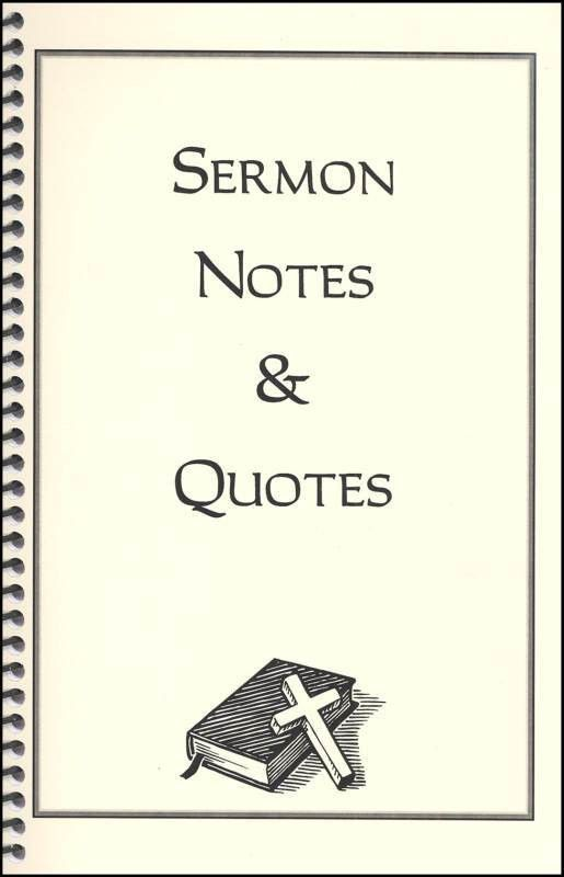 Sermon Notes & Quotes (045240) Details - Rainbow Resource Center, Inc.
