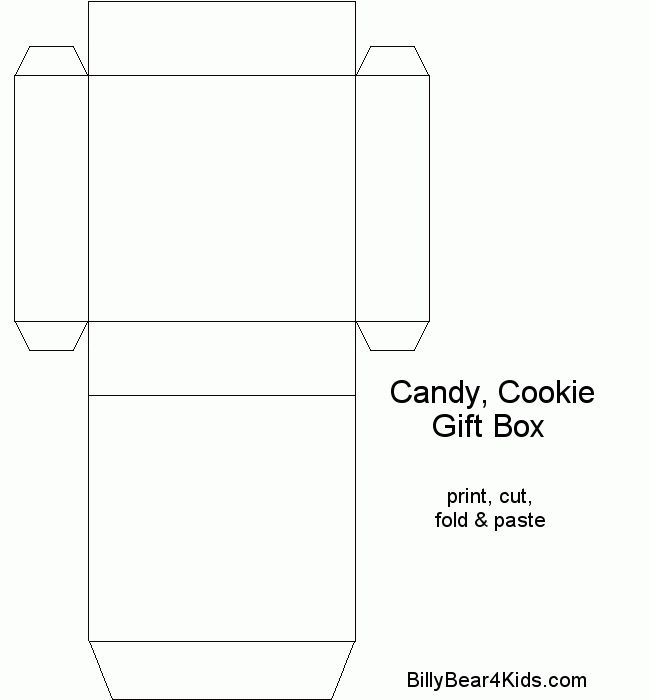 chocolate boxes template | BillyBear4Kids.com Gift - Candy ...