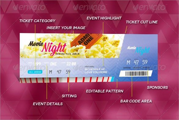 Best Printable Event Ticket Templates in DOC, PSD Formats
