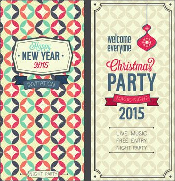 Elegant christmas invitation templates free vector download ...