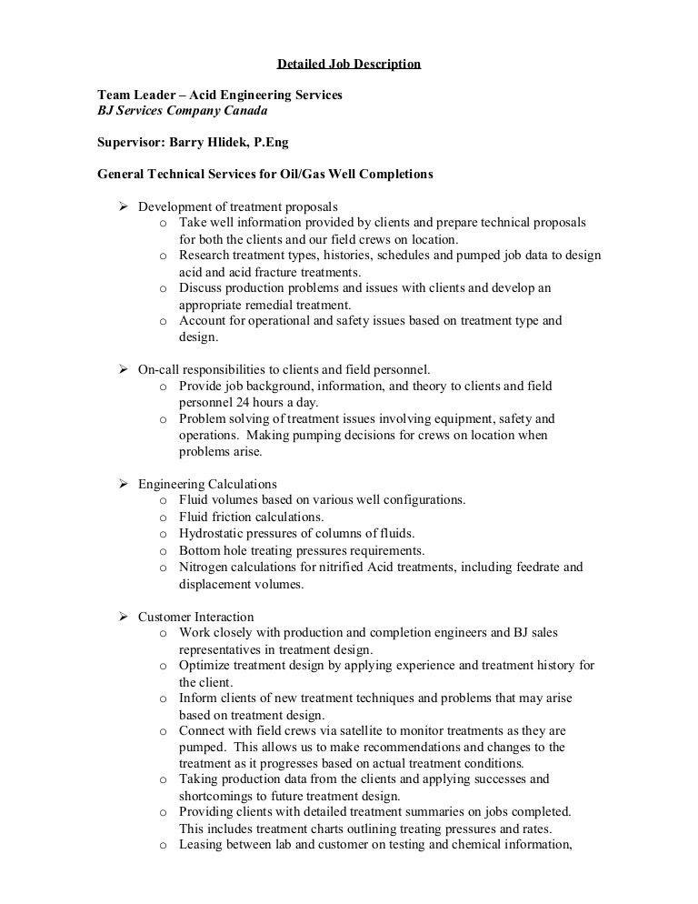 ASET Detailed Job Description