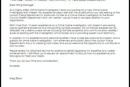 criminal investigator cover letter private investigator cover
